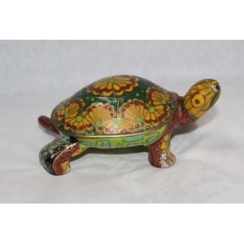 Decorative Brass Cloisonné Enamel Tortoise