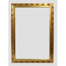 Decorative Gilt Framed Bevel Edged Wall Mirror 76 x 106 cm