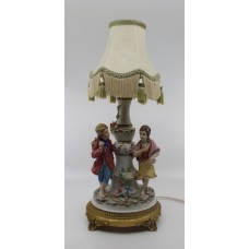 Decorative Italian Porcelain Lamp by Capodimonte