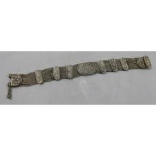 Decorative Silver Chain Bracelet 925 Sterling