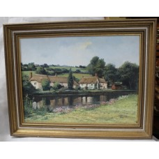 Devon Landscape Oil on Canvas by Alan King