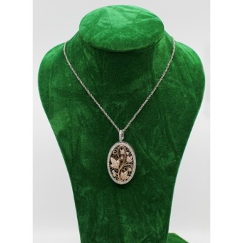 Diamond & 14ct Gold Oval Locket on Chain