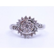 Diamond Fancy Cluster 18ct White Gold Ring