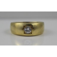 0.28ct Diamond 18ct Gold Signet Ring