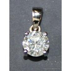 Fine Diamond Set Platinum Pendant Necklace