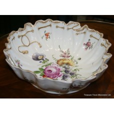 Hand Decorated Dresden Porcelain Bowl