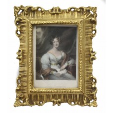 """Early 19th c. Coloured Mezzotint """"Lady Carrington"""" by Charles Rolls"""