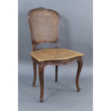 Early 19th c. French Beech Bergere Cane Salon Chair