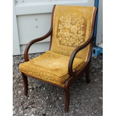Early 19th c. Mahogany Upholstered Armchair