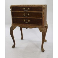 Early 20th c. Carved Walnut Footed Cutlery Chest