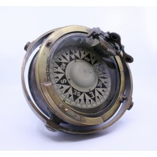 Early 20th c. Bronze Gimballed Compass by F.Smith & Sons