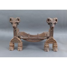 Early 20th c. Cast Iron Swans Nest Dog Grate