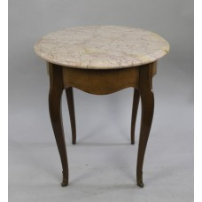 Early 20th c. Marble Topped Circular Table