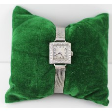 Art Deco Diamond Set Platinum & Gold Ladies Wristwatch