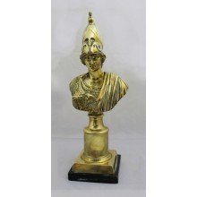 Early Victorian Polished Bronze Grand Tour Bust of Minerva