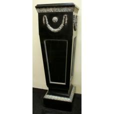 Ebonized Victorian Pedestal with Brass Mounts