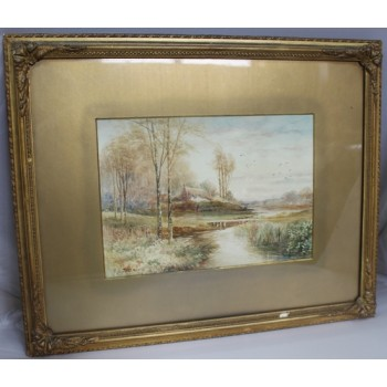 Fine Edwardian English Landscape Watercolour by K E Dalglish