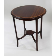 Edwardian Inlaid Mahogany Circular Lamp Table
