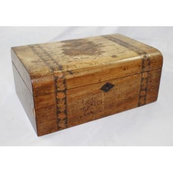 Edwardian Ladies Vanity Sewing Box Walnut Tunbridge Ware