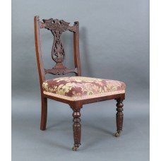 Edwardian Mahogany Nursing Chair with Upholstered Seat