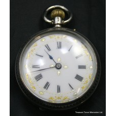 Edwardian Ladies Silver Pocket Watch