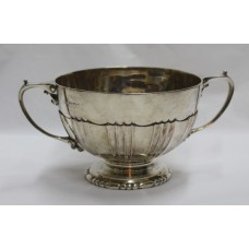 Edwardian Two Handled Hallmarked Silver Bowl London 1903