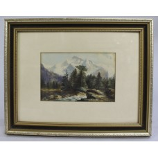 Edwardian Watercolour Landscape by W.L.Guest