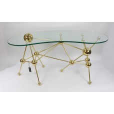 Eichholtz Kidney Shaped Glass Topped Atomic Design Table