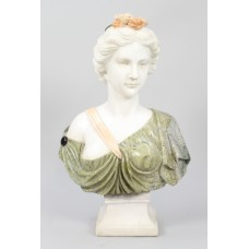Elegant Classical Style Marble Bust of Lady