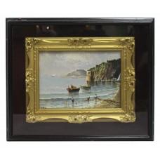 Neapolitan Seascape by Elio Amoroso Oil on Board c.1950