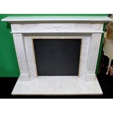 English Adam Style Statuary Marble Fire Surround