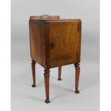 English Walnut Art Deco Pot Cupboard by c.1930