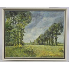 """Essex Elms"" by W.F.Burton (1907-1995) Oil on Board"