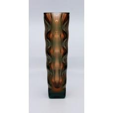 Exbor Egermann Glass Optic Vase Czech c.1967