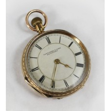 Fine Fattorini & Sons Engraved 9ct Gold Pocket Watch