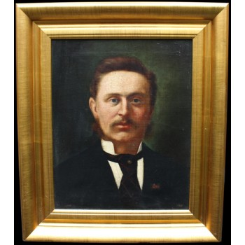 19th c. Portrait Oil on Canvas by George Harris (1855-1936)