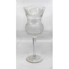 Fine Vintage Edinburgh Crystal Thistle Pattern Wine Glass
