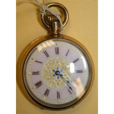 Gold Plated English Fattorini & Sons Pocket Watch