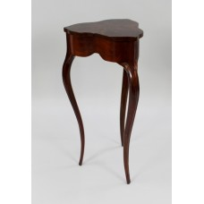 Flame Mahogany Clover Leaf Shaped Lidded Occasional Table