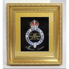 Foil Artwork Grenadier Guards Set in Gilt Frame