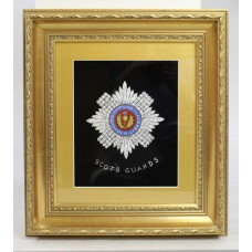 Foil Artwork Scots Guards Set in Gilt Frame