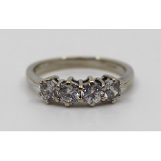 Four Stone Diamond Style Ring 9ct White Gold