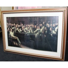 Framed Print of 'The Billiard Room' by Henry O'Neil