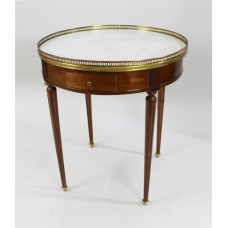 French Circular Marble Topped Lamp Table