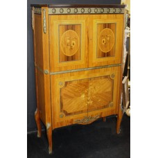 Tall Inlaid French Cocktail Cabinet