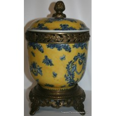 French Style Lidded Urn on Stand with Heavy Ormolu Mounts