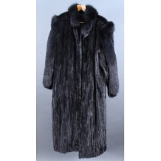 Full Length Stranded Black Mink Coat