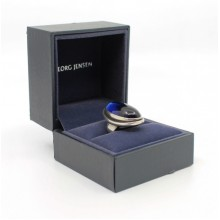 Georg Jensen Large Oval Sapphire Silver Ring