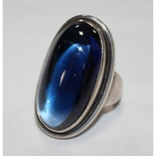 Georg Jensen Oval Sapphire Silver Ring