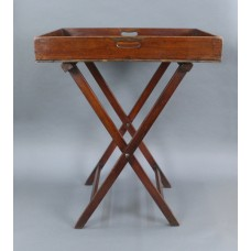 George III Mahogany Butlers Tray on Stand